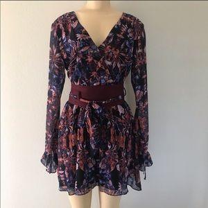 Marciano Dress - Watercolour Purple Tie Waist